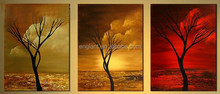 Relief abstract trees oil painting wall arts