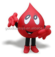 moving cartoon advertisements Blood Drop mascot costume