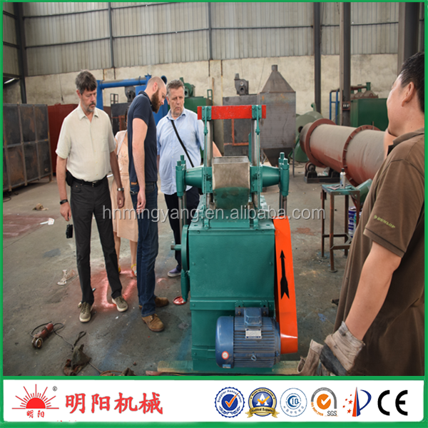 Rice hull wooden sawdust shisha charcoal briquette extruder machine price