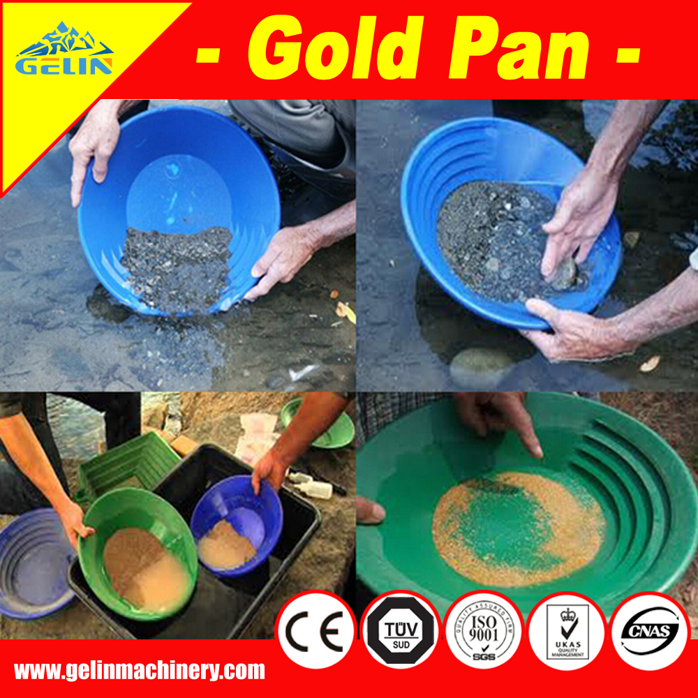 Riffles gold washing gold pan