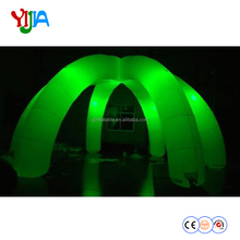 6 legs white event dome inflatable tent for advertising with removable cover ,colorful LED lights