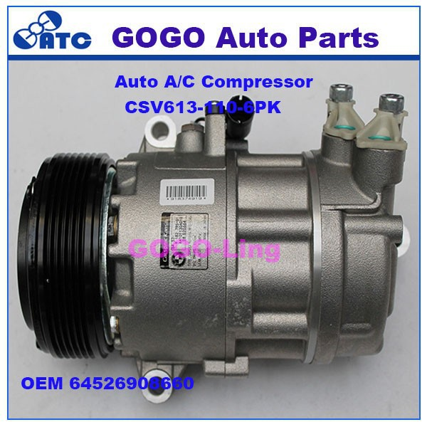 GOGO CSV613 Auto A/C Compressor for BMW 3 Series E46 OEM 64526908660 64509182795 64526918751