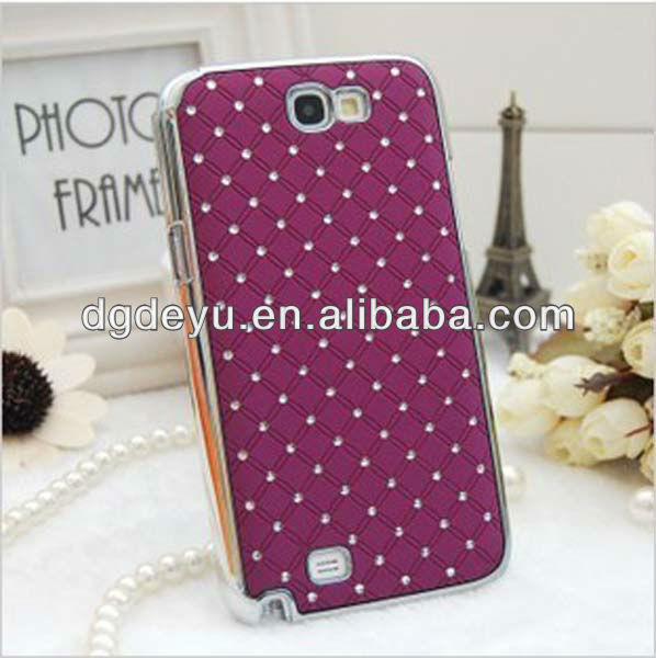 Purple case for samsung galaxy with diamond