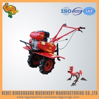 Automatic mini hand power tiller functions of farm tools