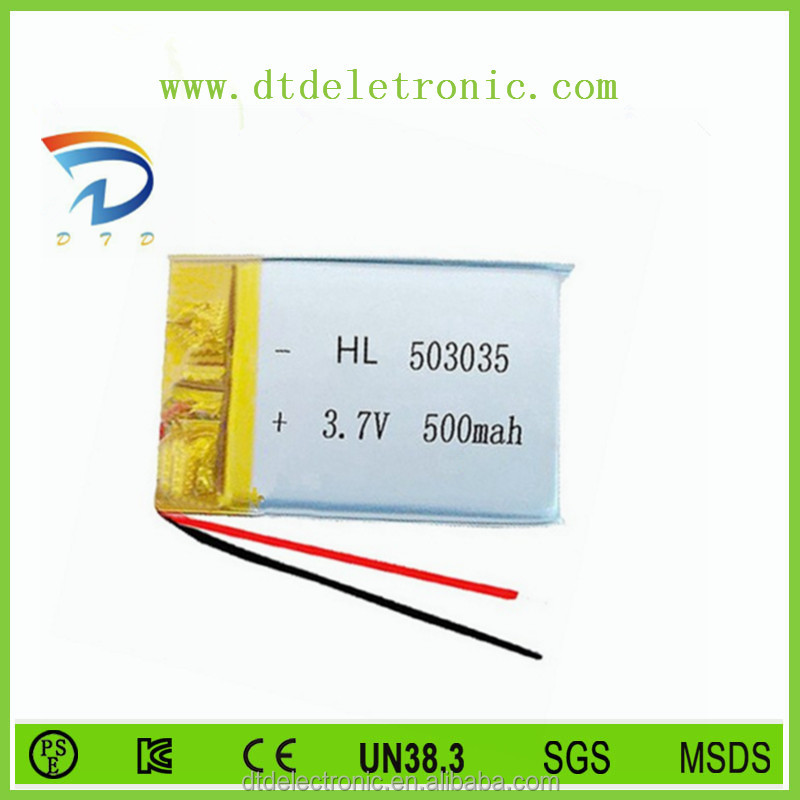 Manufacturer battery from china3.7v 650mah 383450 polymer lithium battery