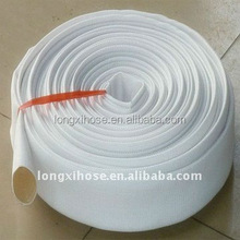 White synthetic rubber Lined Fire Hose