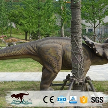 OA378528 Playground Mechanical Dinosaurs Outdoor Triceratops