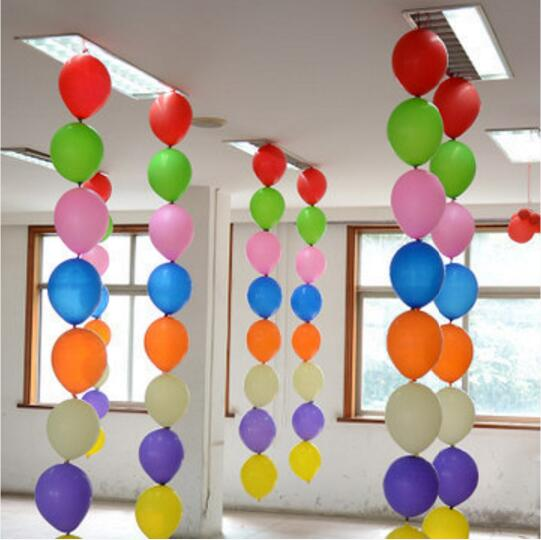 Décoration de plafond lien o loon ballons en latex ballon de queue