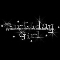 Birthday Girl Iron on Rhinestone Transfer Motif Designs