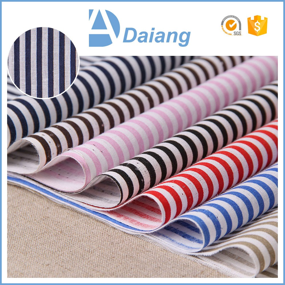 New products in 2016 high quality 100% white black stripe cotton fabric