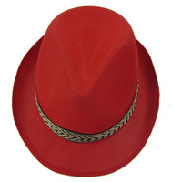 Red color fashion pp straw cowboy hat