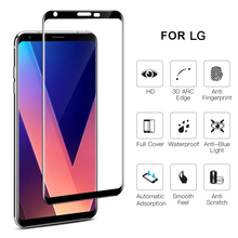 Factory Wholesale anti scratch 3D mobile protector screen sheet 0.33mm 9H full covered high quality 3d curved glass for LG