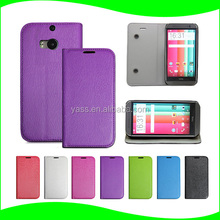 New Product 2016 Original Ultra Slim Fancy Leather Cell Phone Waterproof Bag for HTC One M8 Case