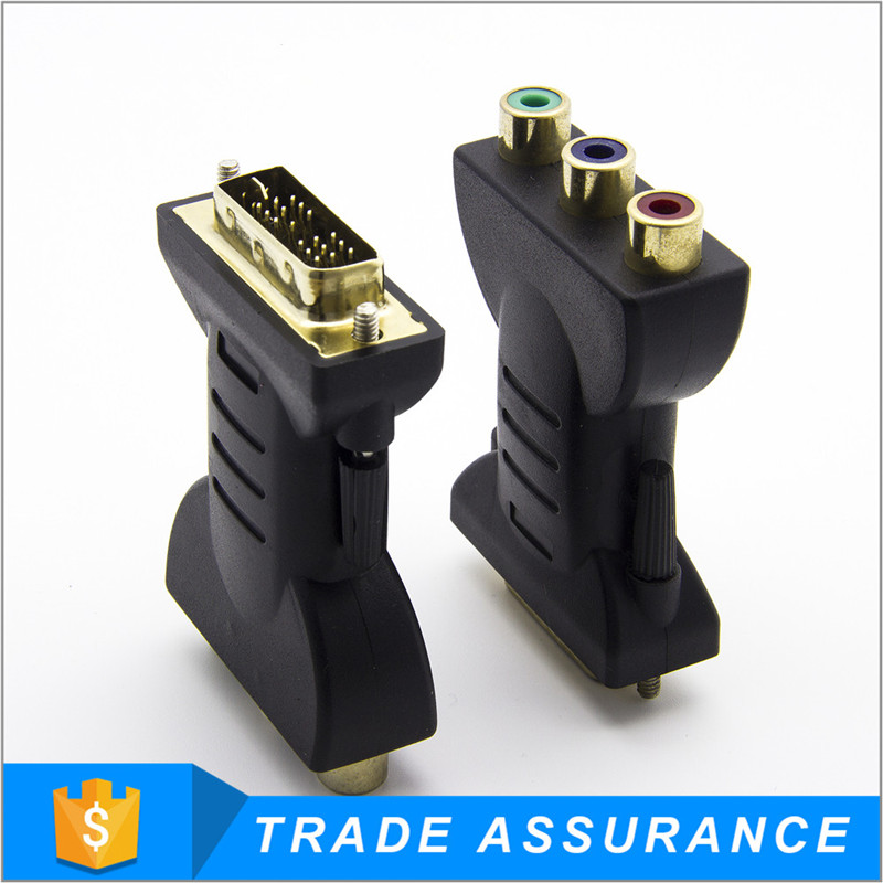 New Product high quality Gold plated Male rca to dvi converter