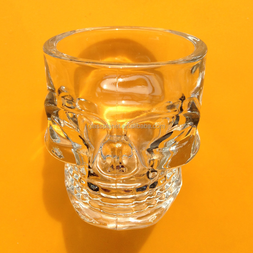 Skull-Shaped Shot Glass, 50ml Shot Glass, Shooter Glass, Small Glass Cup, Whiskey Glass, Vodka Glass, Liquor Glass