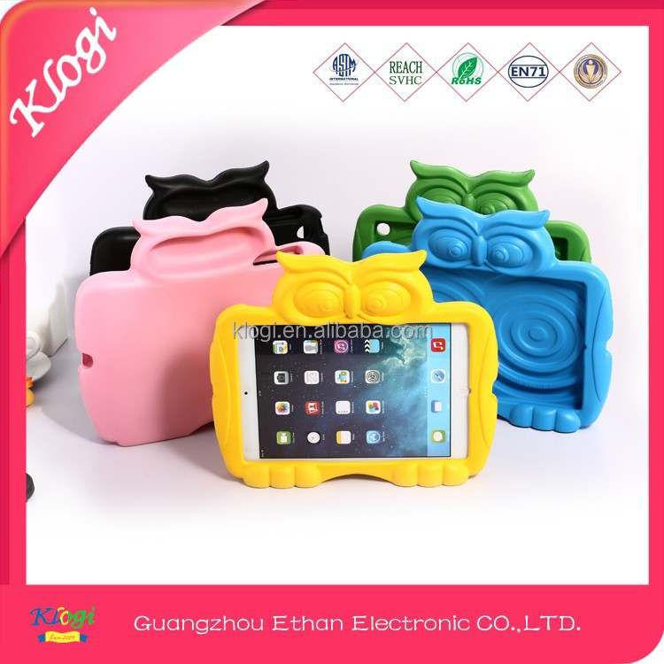 cute animal silicone case pc 3d image protective case for ipad case