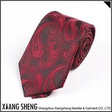 Custom Logo Latest Design red fancy Polyester Necktie