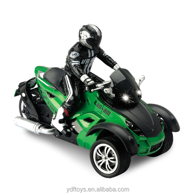 <strong>1</strong>:<strong>10</strong> Scale RC Car 4 function <strong>R</strong>/C 3 Wheels Motorcycle RC trial motorbike