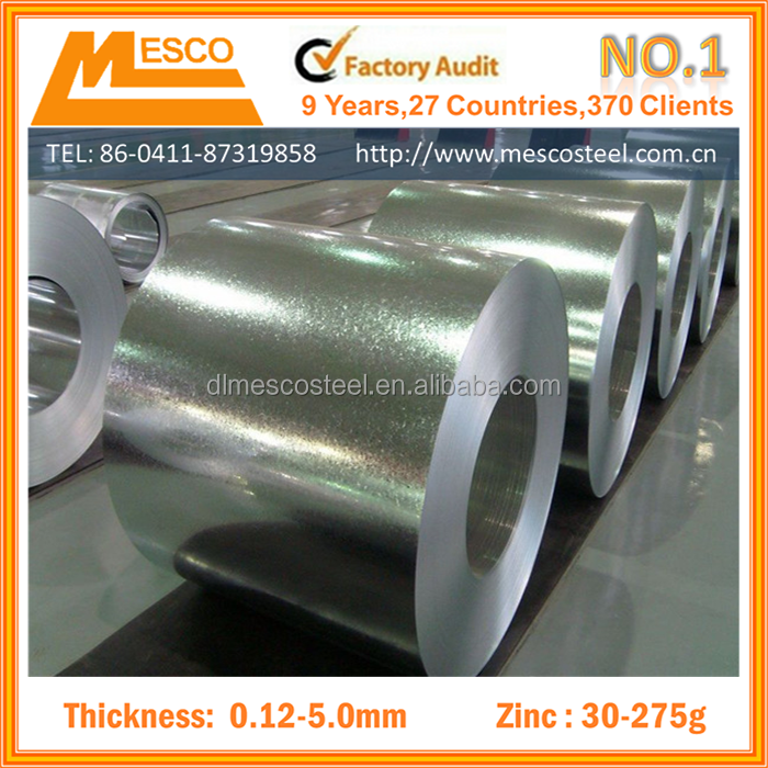 Free spangle Galvanized sheet metal prices/zinc coated steel strip