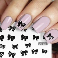 water slide printing transfer nail art stickers Polka Dots Water Decals