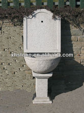 European style outdoor stone water sink granite trough