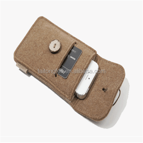 Wholesale manufacturers wool felt cover of mobile phone