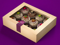 Custom PVC Windows Cake Cupcake Box New Design