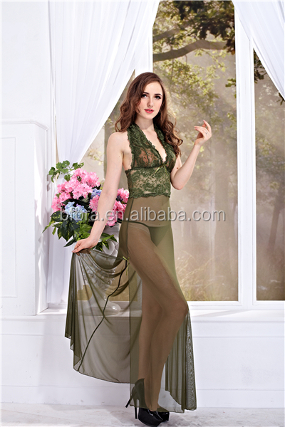 United States style dark green nylon spandex beautiful women sexy lingerie