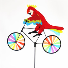 2018 spring online whosale garden decorative animal design bicycle <strong>windmill</strong>