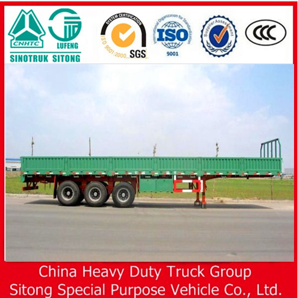 Chinese OEM Utility Sidewall Semi Trailer with Rear Door for sale