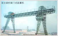 ME model trussed double main girder Door crane