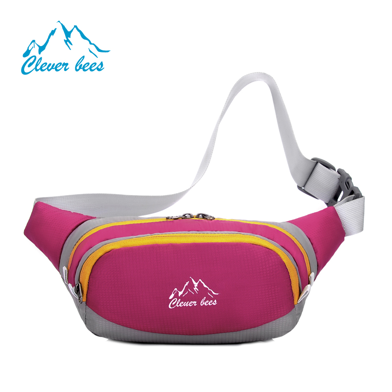 waist bags with custom printed logo nylon fabric running waist bags funny pack High capacity fanny pack custom logo