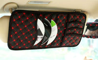 New Leather Car Sun Visor CD DVD Holder