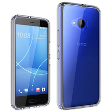 For HTC U11 life smart cell phone case,transparent tpu and acrylic case for HTC U11 LIFE