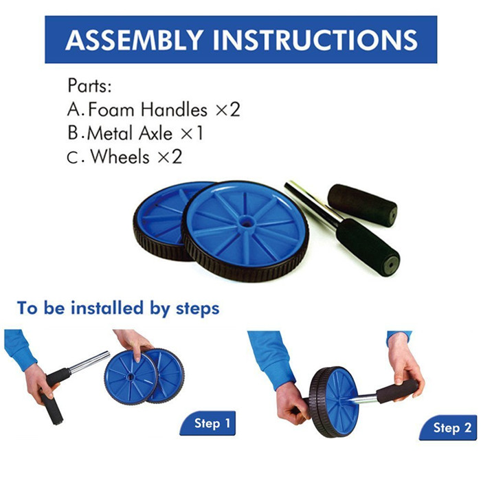 Sport Home Gym Easy Take Exercise Wheel Hot sale