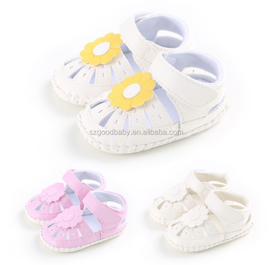 Stylish design barefoot baby summer cotton sandals cheap fashion baby shoes in bulk