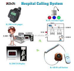 Easy To Use Transmitter Nurse Used Equipment K-200CD+300+3L Emergency Panic Button K-AB-H Wireless Nurse Calling System