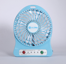 "4"" Air Cooling Rechargeable Lithium Battery Small Table Fan,4 Inch DC 5V Portable Desk USB Mini Fan With LED Light"