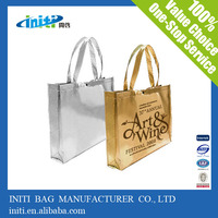 Alibaba express china supplier metallic promotional tote bags