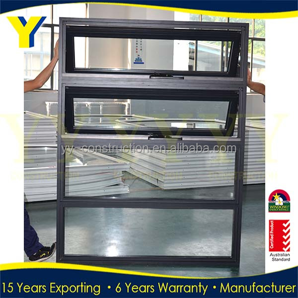 AU/NZ/CSA/USA Standard Building double glazed window for cheap house awing window for sale