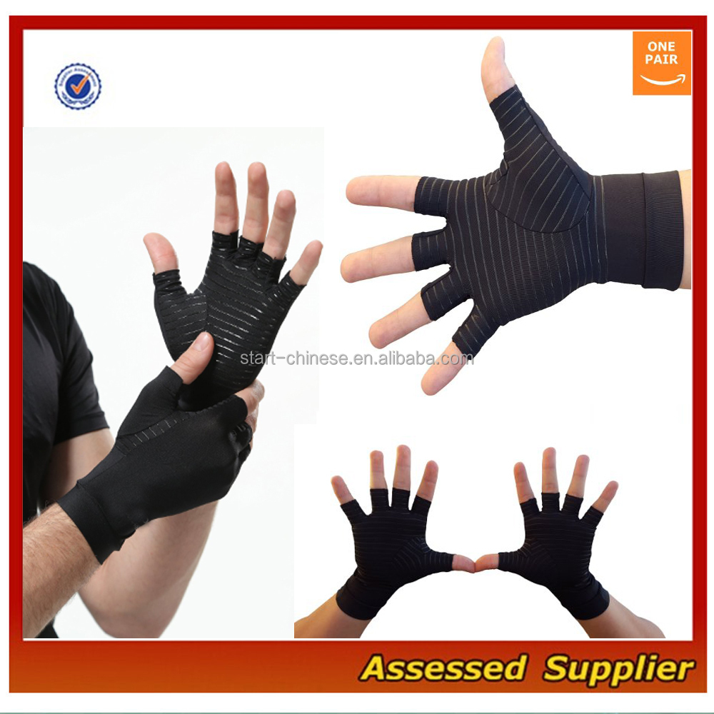 Custom Copper Compression Gloves for Arthritis Recovery MLL912