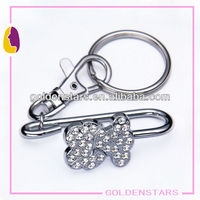 Cute rhinestone bear new deigner metal purse key clip for promotion