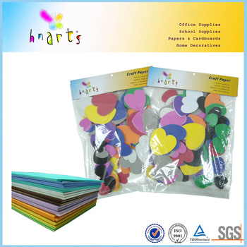 self adhesive eva shapes/color heart eva