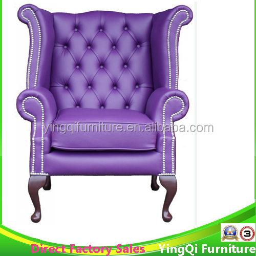 Elegant Purple High Back Wedding Bridal Chair Baby Shower Chaise Lounge