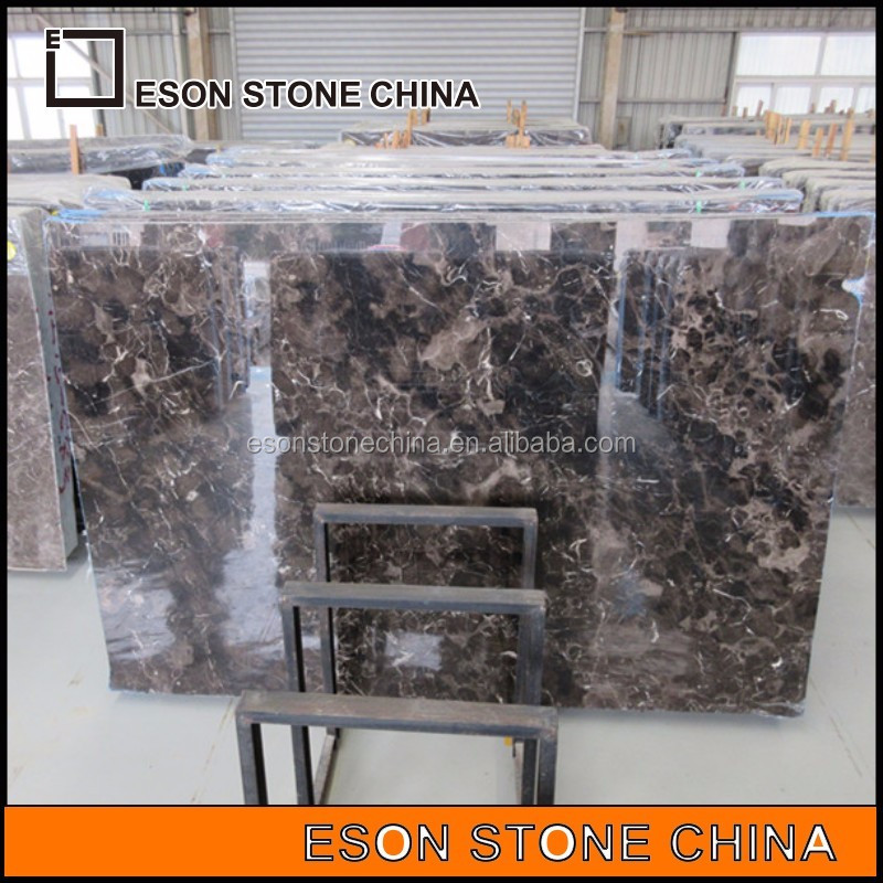 eson stone <strong>111</strong> China Dark Emperador marble big slab with good quality