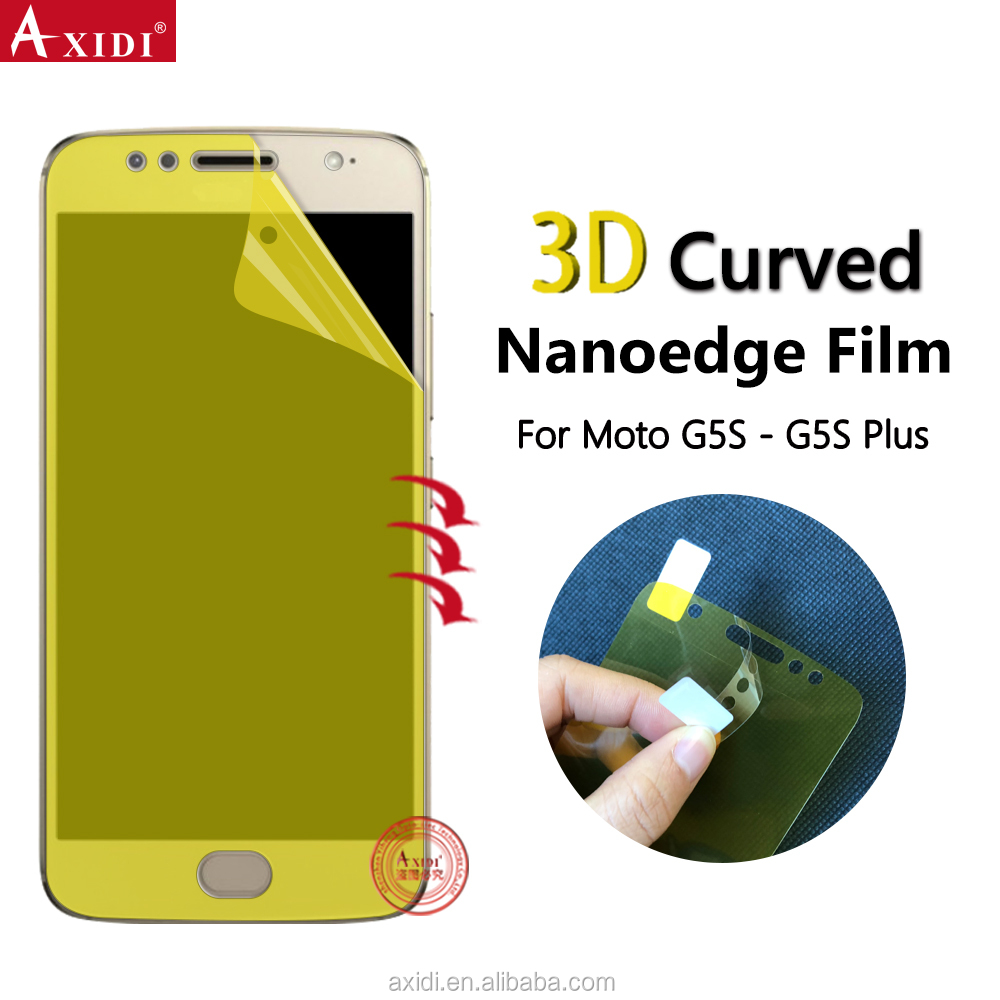 Cell Phone Accessory Screen Cover For Moto G5S Plus 3D Nanoedge Curved Guard