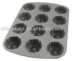Plastic 12 fluted muffin pan mould