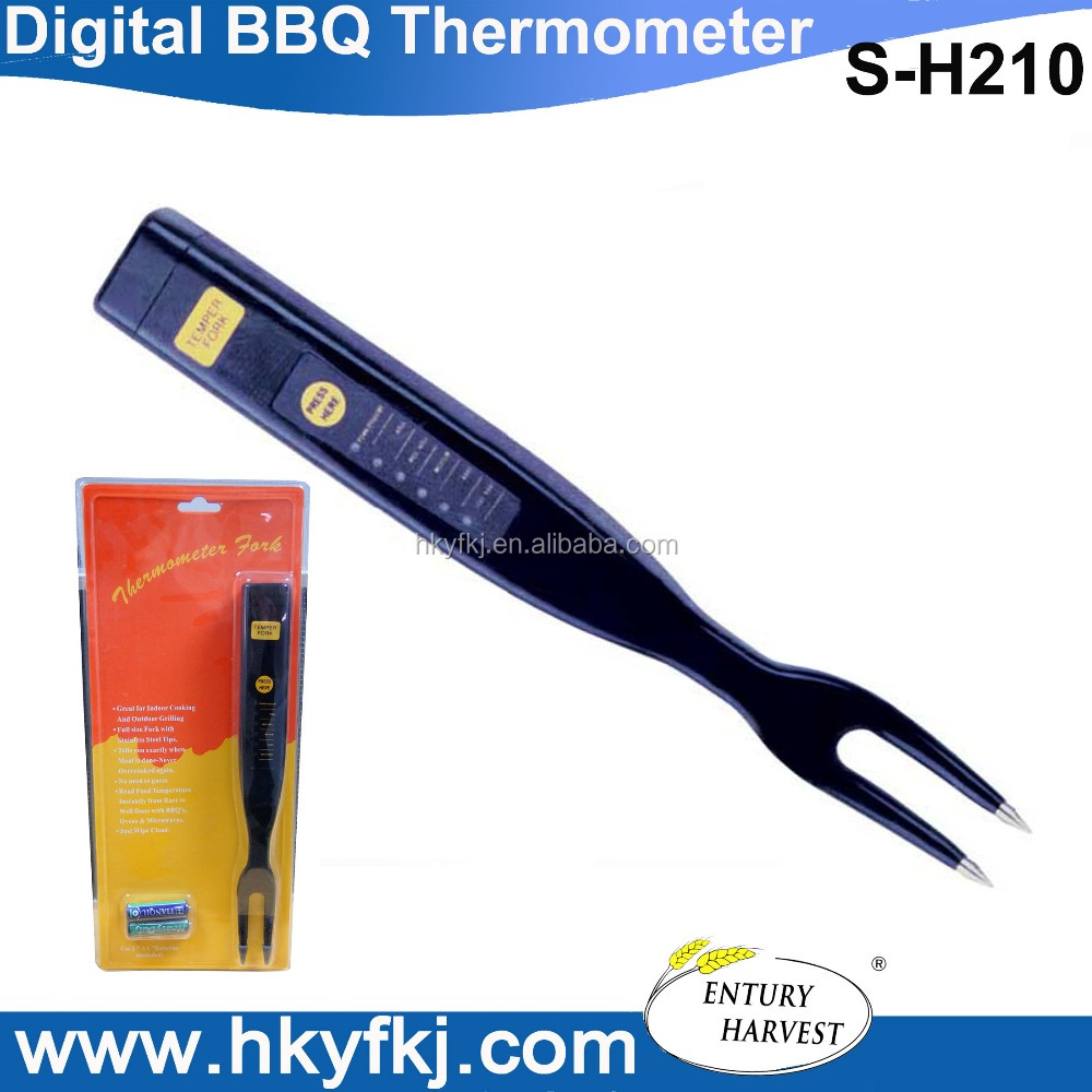 instant read thermofork meat cooking barbecue thermometers temperature fork