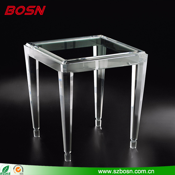 High quality acrylic table leg of luxury transparent clear acrylic table legs