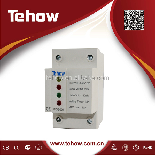 over under voltage protector three phase with two indicators